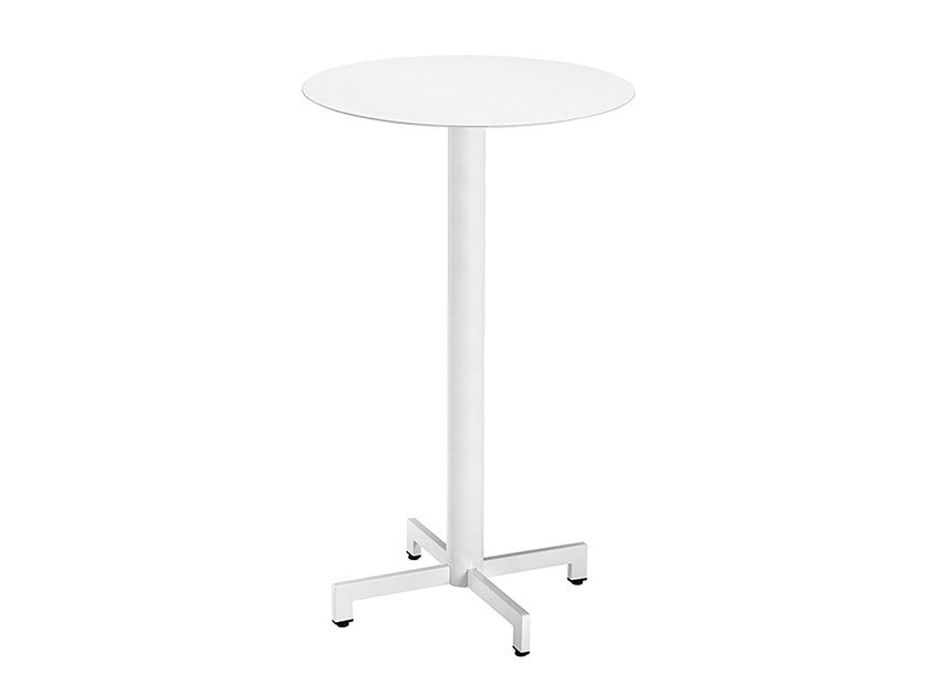 Round steel high table Web 466A by Metalmobil