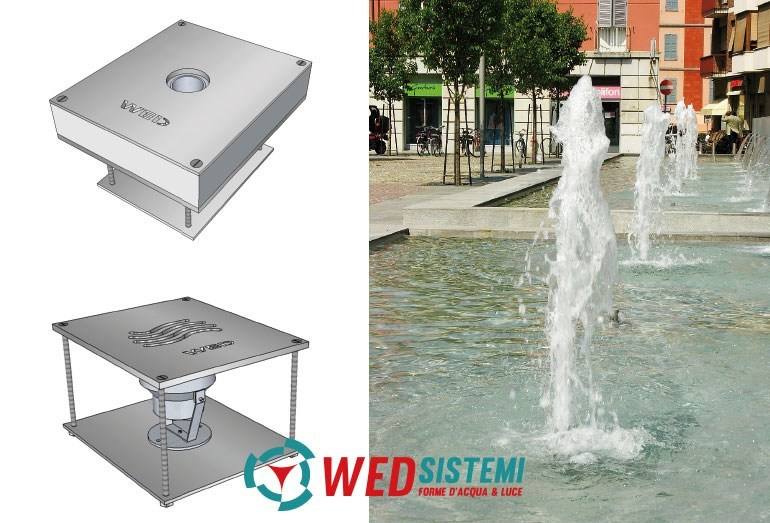 Metal Fountain Wed Energy Saver Cascade by WED