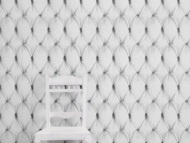 Wallpaper WHITE CHESTERFIELD BUTTON BACK by Mineheart