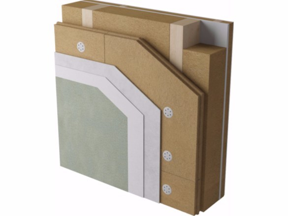 Exterior insulation system Wood-framed wall by Naturalia BAU