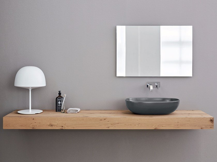 Wooden washbasin countertop Wooden washbasin countertop by Nic Design