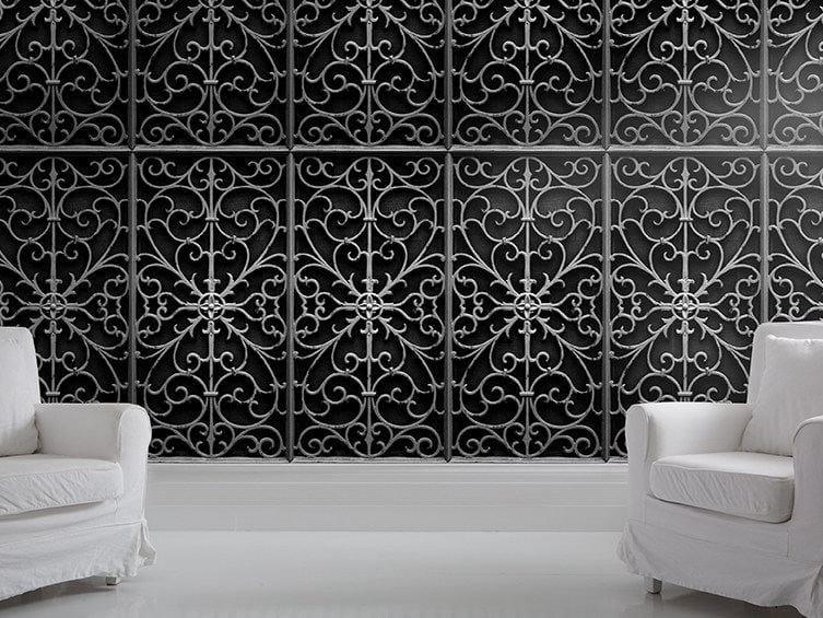 Motif wallpaper WROUGHT METAL GATE by Mineheart
