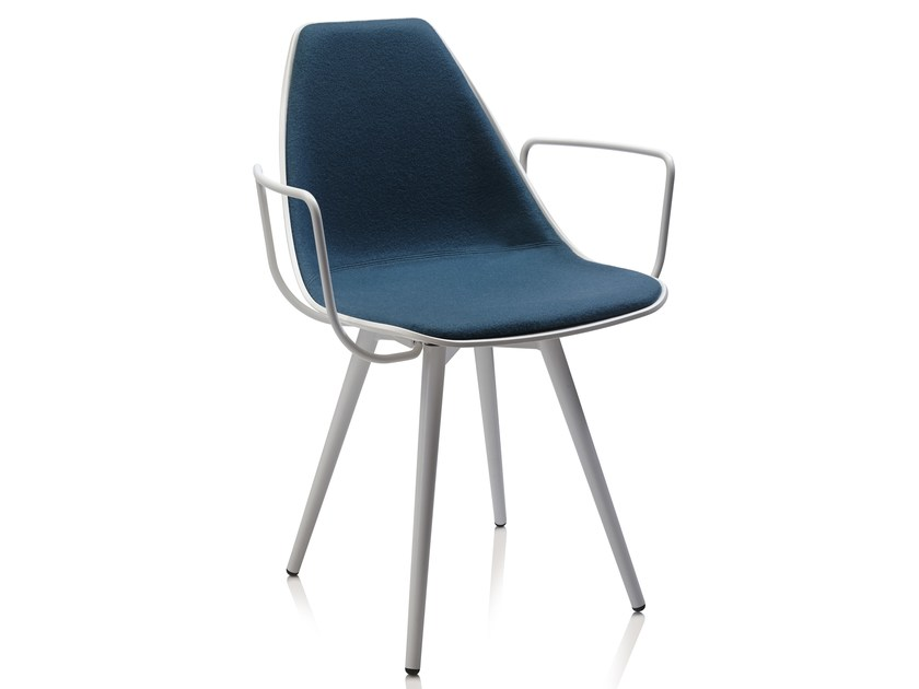 Upholstered chair with armrests X CONE SOFT by ALMA DESIGN