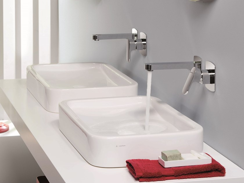 Wall-mounted single handle washbasin mixer X-LIGHT | Single handle washbasin mixer by newform