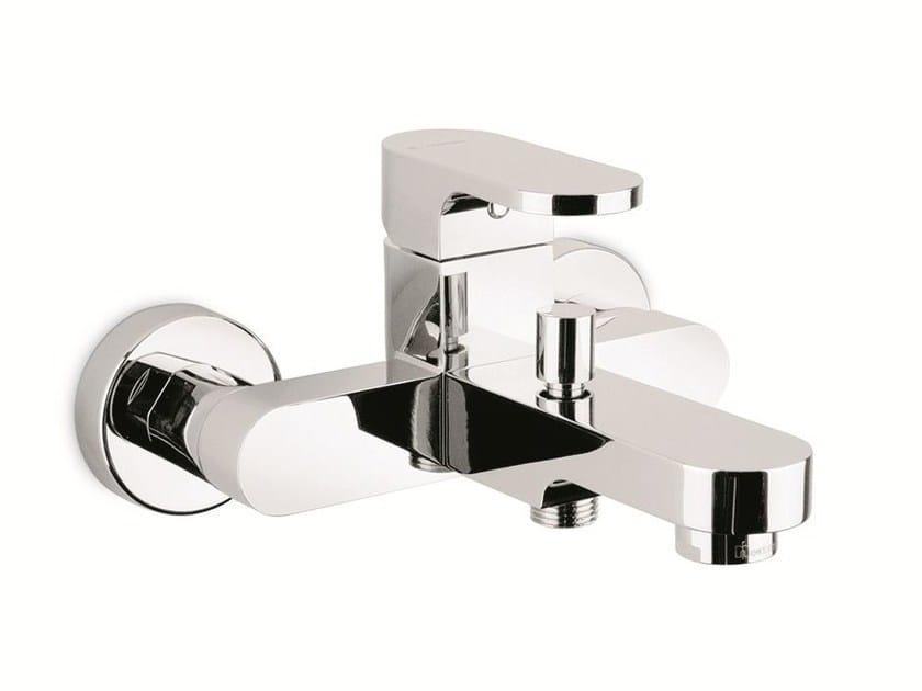 Wall-mounted single handle bathtub mixer with diverter X-LIGHT | Wall-mounted bathtub mixer by newform