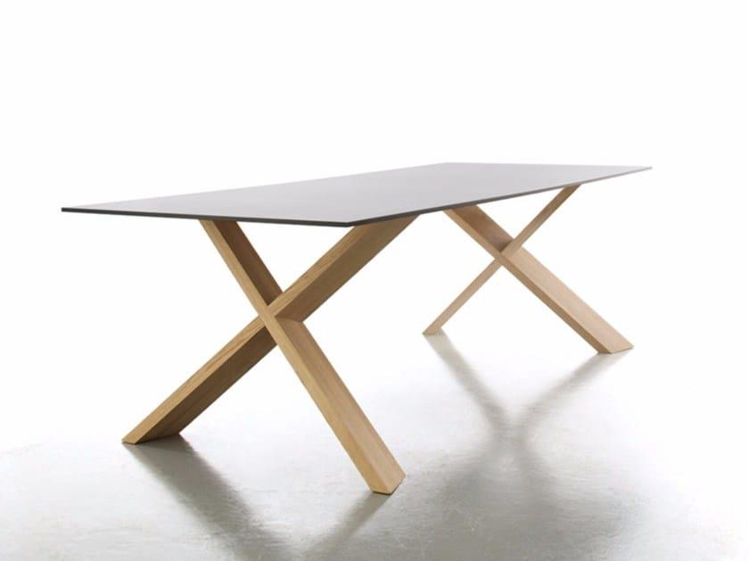 Rectangular laminate dining table X-MAN by conmoto