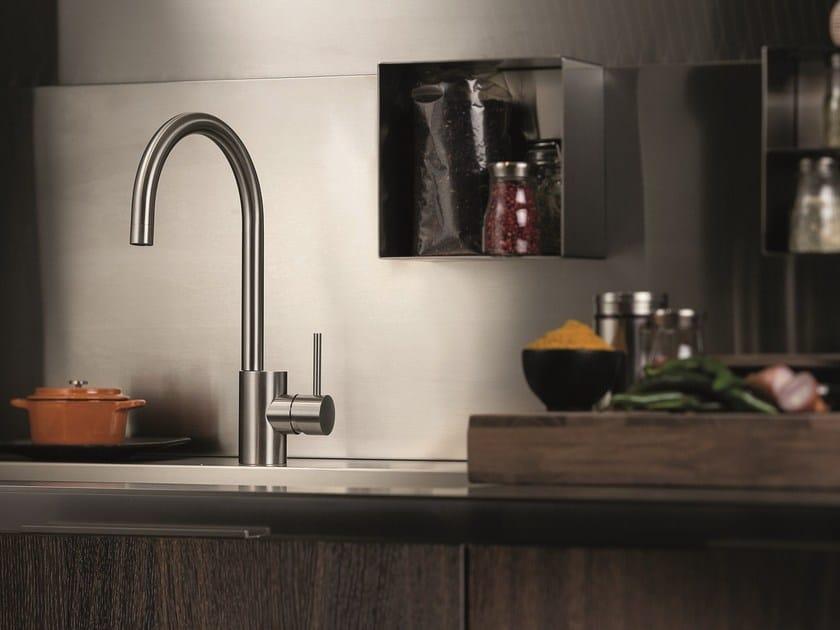 Miscelatore da cucina da piano in acciaio inox con bocca girevole X-MIX | Miscelatore da cucina by newform