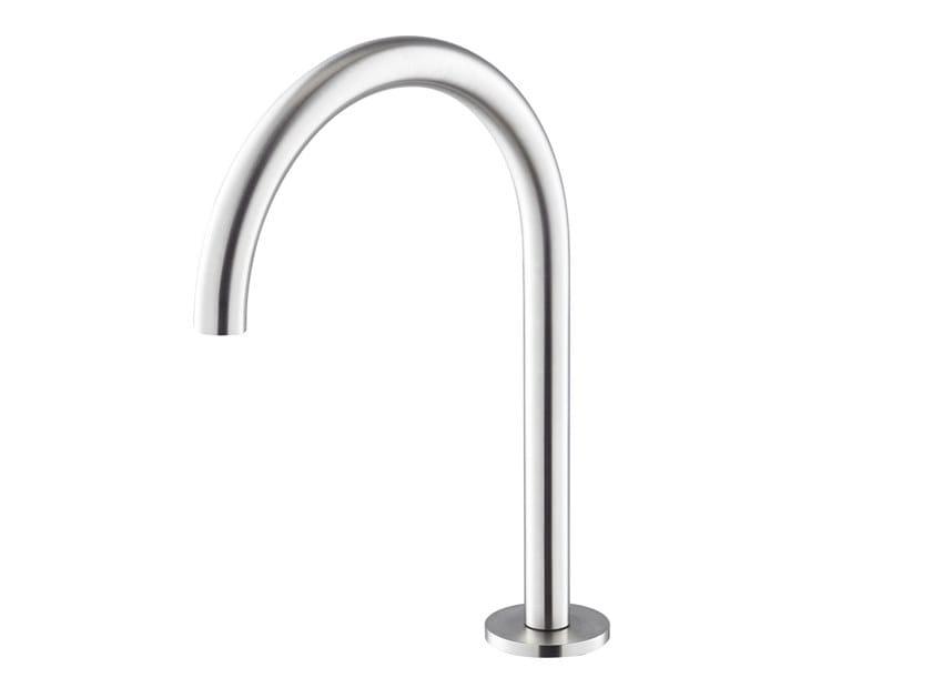 Bocca di erogazione da piano per lavabo X-STEEL 316 | Bocca di erogazione da piano by newform