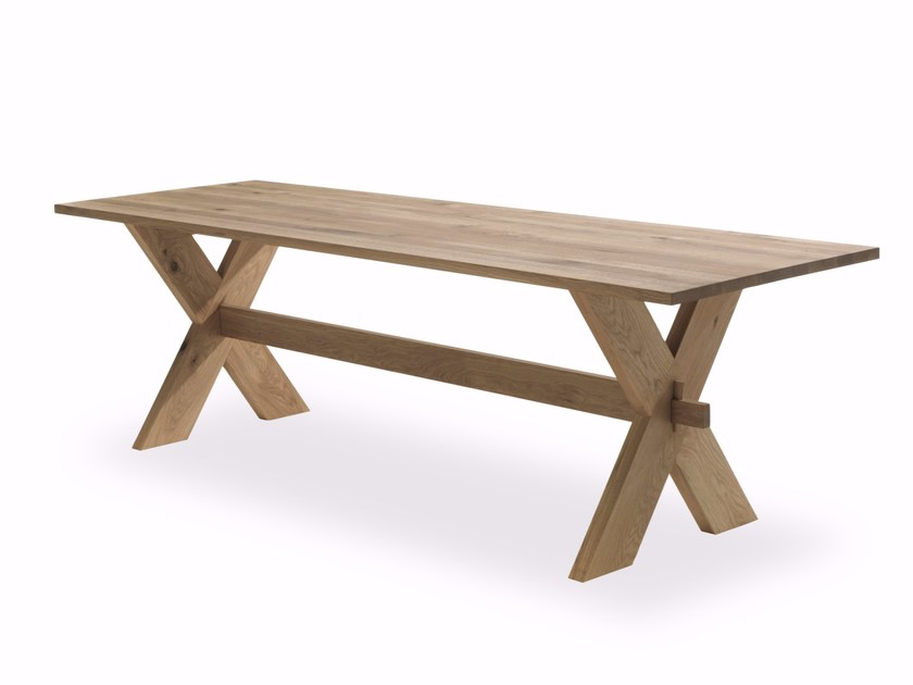 Rectangular solid wood table X TABLE by Riva 1920