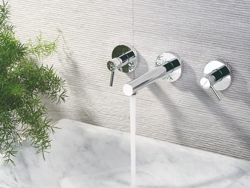 3 hole washbasin tap without waste X-TREND | 3 hole washbasin tap by newform