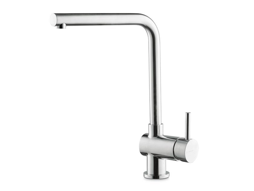 Single handle stainless steel kitchen mixer tap with swivel spout X-TRIT by newform