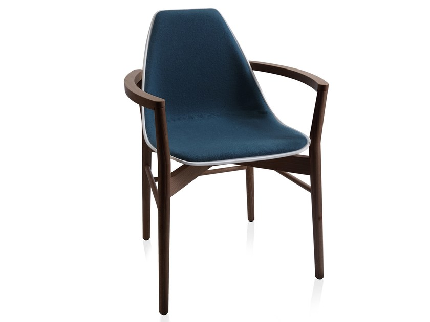 Sedie In Legno Con Braccioli : X wood sedia con braccioli collezione chair by alma design