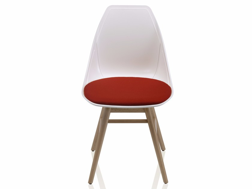 Polypropylene chair with integrated cushion X WOOD 2 | Upholstered chair by ALMA DESIGN