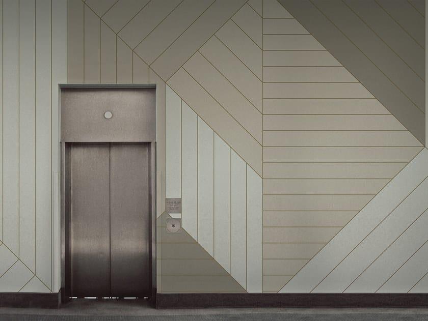Geometric vinyl wallpaper X-Y-Z by Baboon