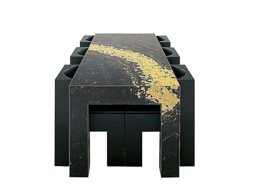 Rectangular wooden table X2 by Draenert