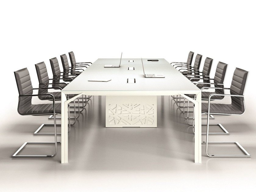 Modular meeting table X8 | Meeting table by Quadrifoglio