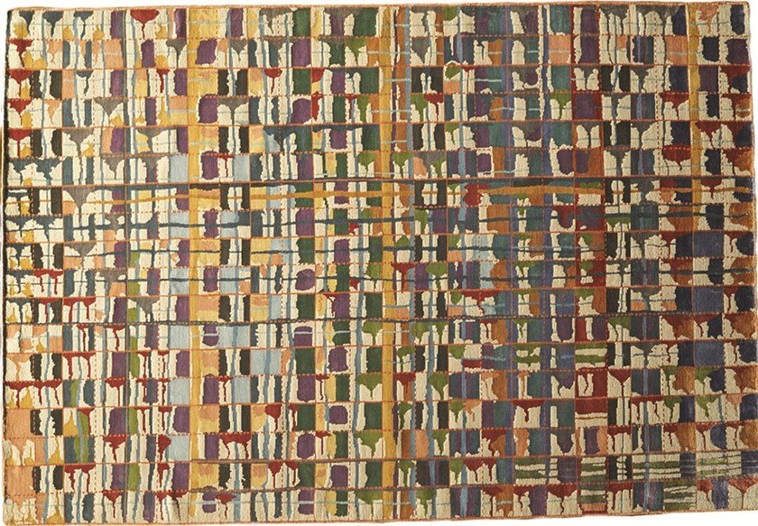 Patterned rectangular rug XANADU by Toulemonde Bochart