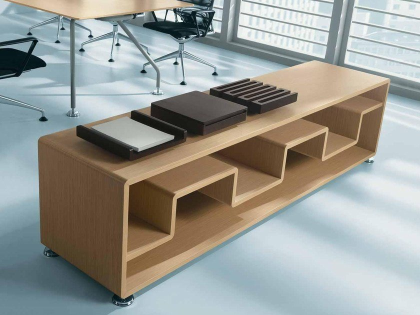 Office storage unit / office shelving XEON | Low office shelving by BALMA