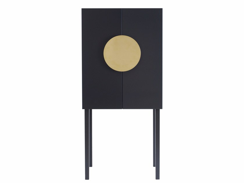 Lacquered MDF highboard with doors XI by ASPLUND