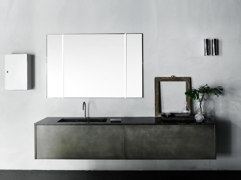 Wall-mounted vanity unit with drawers XILA | Vanity unit by Boffi