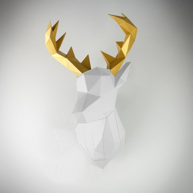 Paper wall decor item XL DEER by Papertrophy