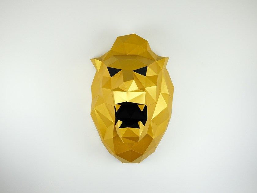 Paper wall decor item XL LION by Papertrophy