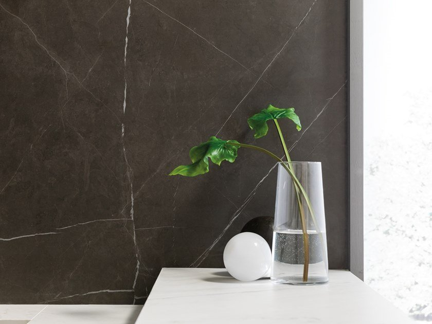 Porcelain stoneware wall/floor tiles with marble effect XLIGHT PREMIUM SAVAGE DARK by URBATEK