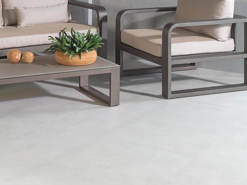 Porcelain stoneware wall/floor tiles with concrete effect XLIGHT STARK GREY by URBATEK