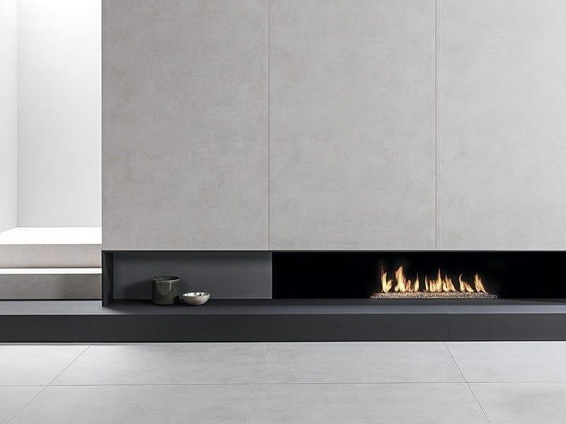Pavimento/rivestimento in gres porcellanato effetto cemento XLIGHT STARK WHITE by URBATEK