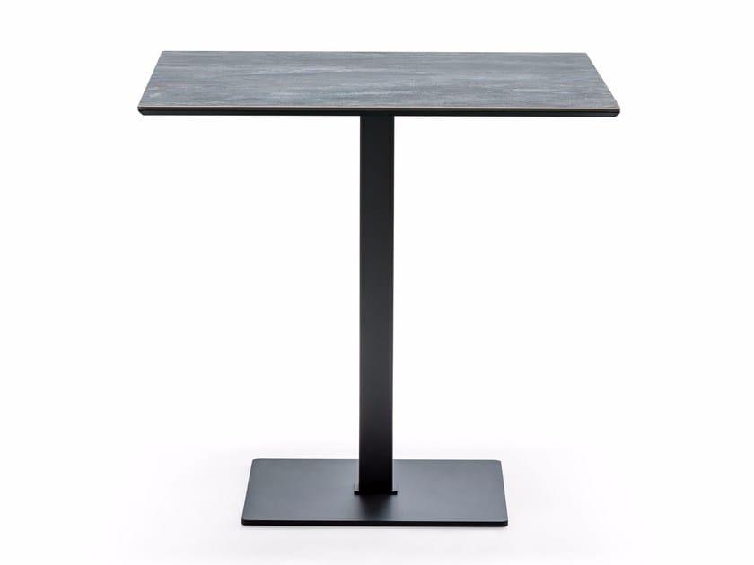 Square ceramic high table XOM KERAMIK by Cattelan Italia