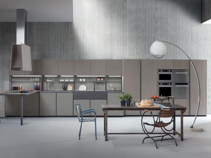 Linear fitted kitchen XP/01 by Zampieri Cucine