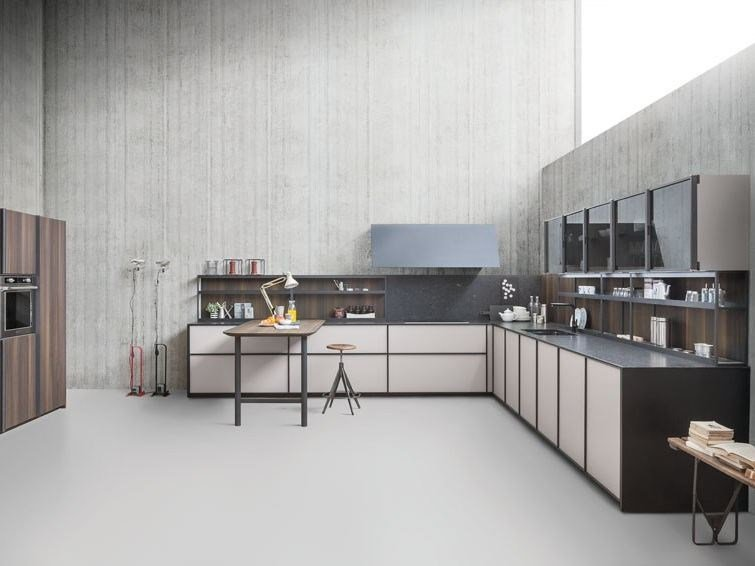 Linear fitted kitchen without handles XP/03 by Zampieri Cucine