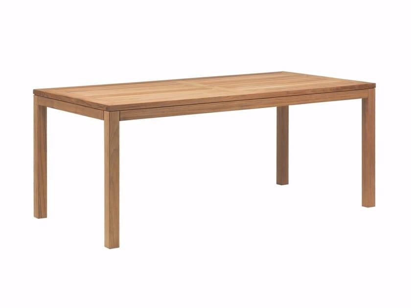 Rectangular teak garden table XQI | Table by ROYAL BOTANIA