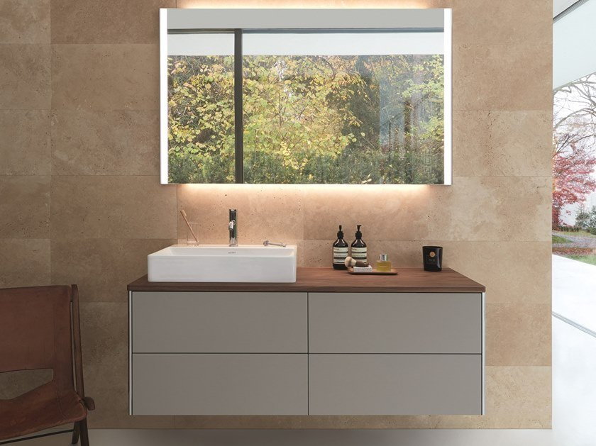 Lacquered single wall-mounted vanity unit XSQUARE | Wall-mounted vanity unit by Duravit