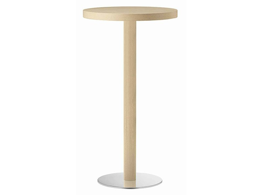 Round wooden high table XT 477A by Metalmobil