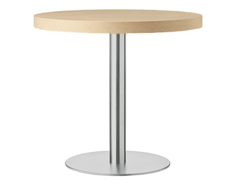 Round steel and wood table XT 478 by Metalmobil