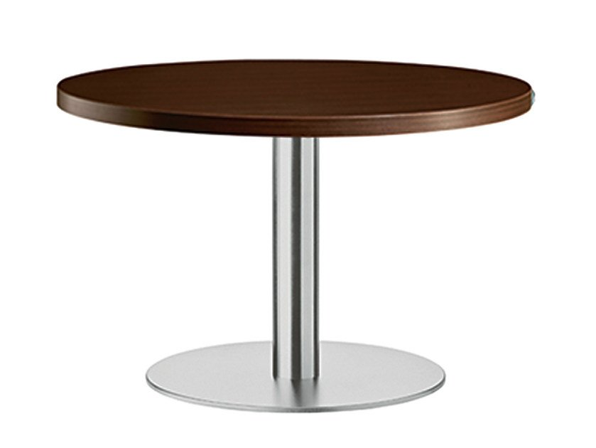 Round steel and wood table XT 478B by Metalmobil