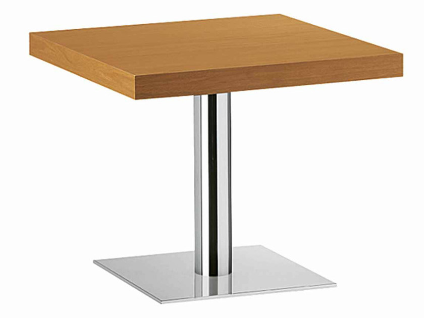 Square steel and wood table XT 479BT by Metalmobil
