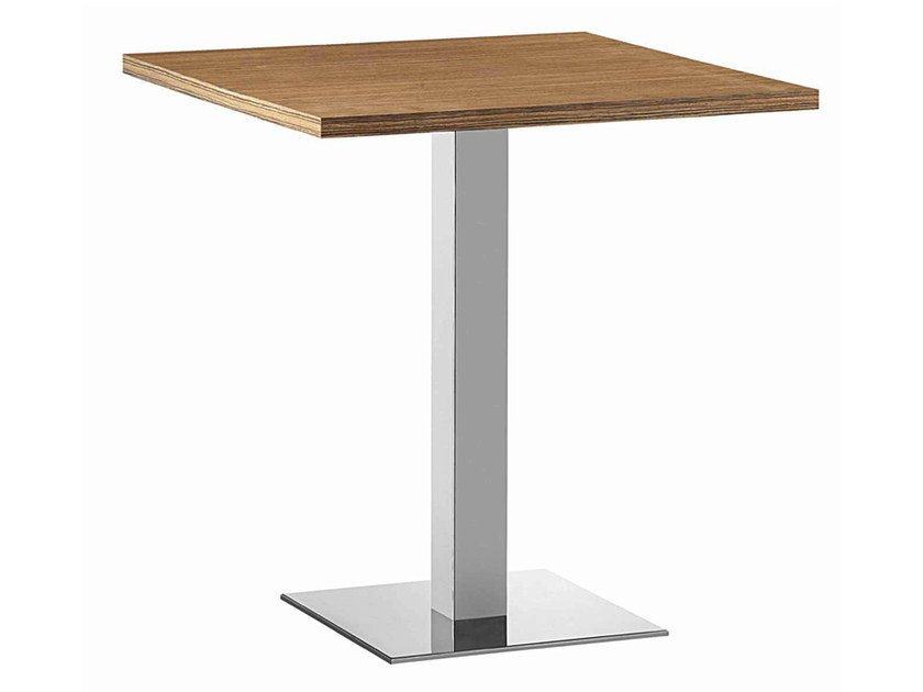 Square steel and wood table XT 479Q by Metalmobil