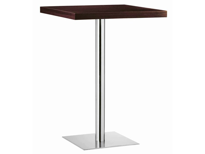 Square steel and wood high table XT 480AT by Metalmobil