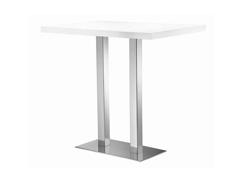 Rectangular high table XT 490AQ by Metalmobil
