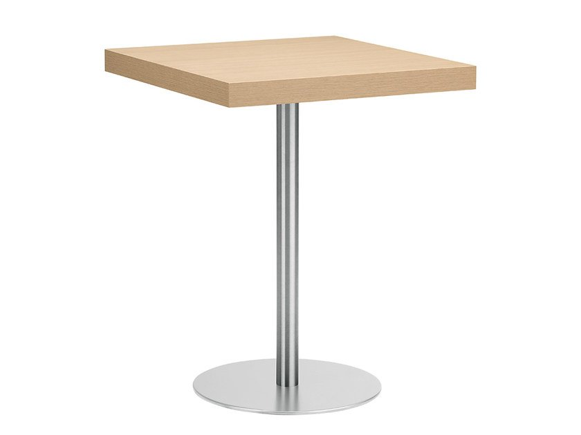 Square steel and wood table XT 494 by Metalmobil