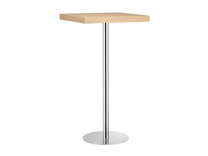 Square steel and wood high table XT 494A by Metalmobil
