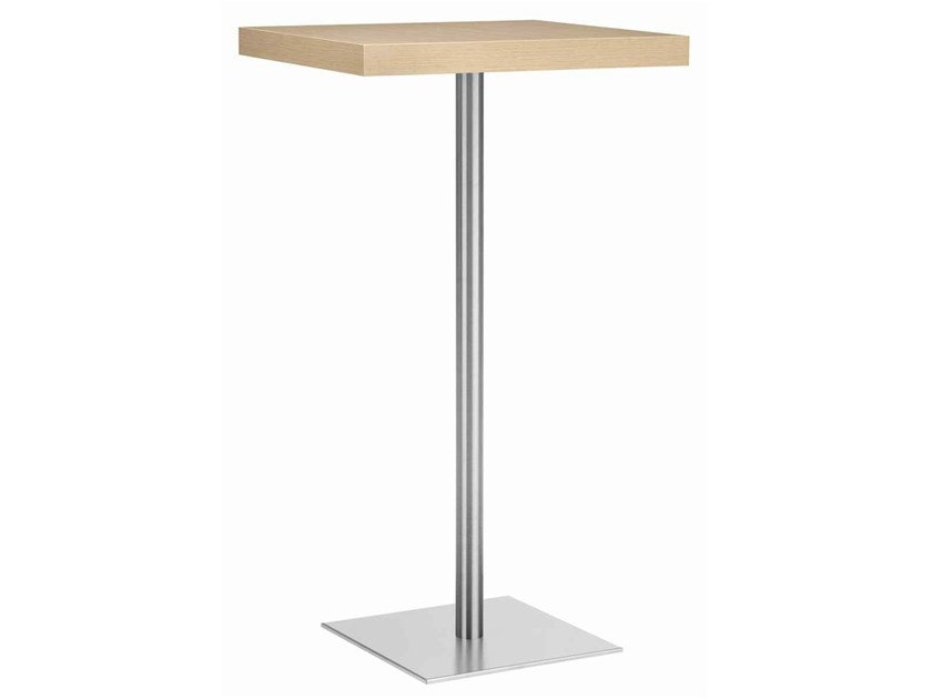 Square steel and wood high table XT 495AT by Metalmobil