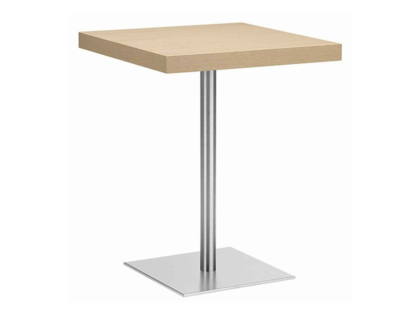 Square steel and wood table XT 495T by Metalmobil