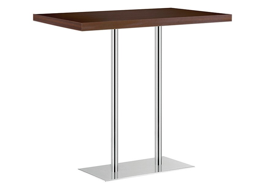 Rectangular steel and wood high table XT 496AT by Metalmobil
