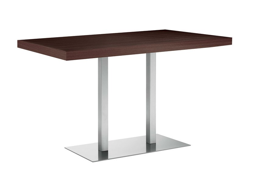 Rectangular steel and wood table XT 496Q by Metalmobil