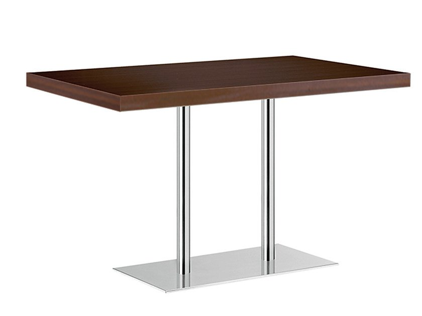 Rectangular steel and wood table XT 496T by Metalmobil