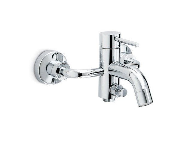 Wall-mounted external bathtub mixer with diverter XT | Bathtub mixer by newform