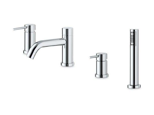 Bathtub set with diverter with hand shower XT | Bathtub set by newform